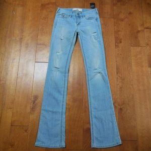 Hollister Boot Light Blue Jeans size 0L 24x35
